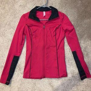 Underarmour pink workout jacket zip up